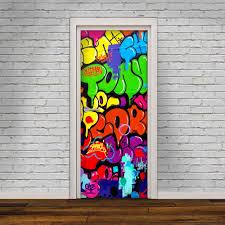 glass door decals stickers door decal self adhesive vinyl sticker graffiti door cover
