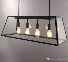 Rectangular Light Fixtures For Dining Rooms Marvelous Rectangle Light Fixture Loft Pendant L Retro