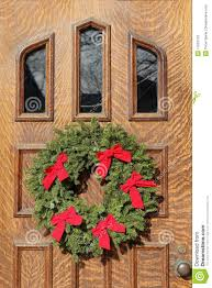 front door with christmas decorations stock photos image 17552703