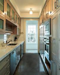 Long Galley Kitchen Elegant Small Galley Kitchen With White U Design Galley Kitchen