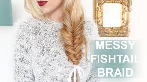 Easy Messy Hairstyles For Short Hair by Easy Messy Fishtail Braid For Short Long Hair Youtube