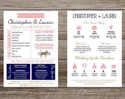 Unique Wedding Programs Wedding Infographic Etsy