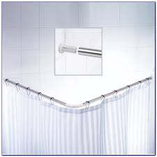 L Shaped Shower Bath L Shaped Shower Curtain Rod Bed Bath And Beyond Curtain
