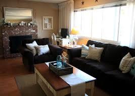 black livingroom furniture glossy coffee table top rustic and masculine living room n brown