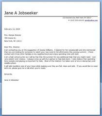 Baby Sitter Resume Babysitter Cover Letter Sample