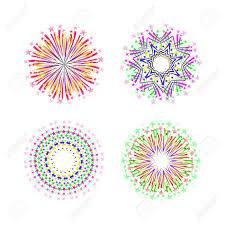 fuochi d artificio clipart disegno di sfondo con fuochi d artificio astratti e saluto clipart