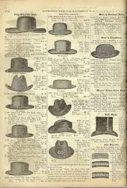 an ad featuring men u0027s hat styles including the fedora and homburg