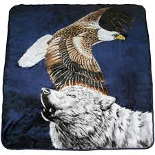 eagle and wolf blanket buy it wholesale at eclipsedist com great
