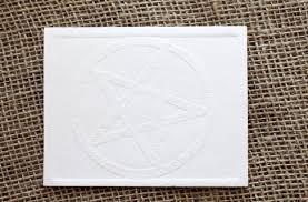 embossed note cards where y embossed notecards pentagram by tish douzart