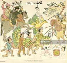 Michoacan Map Tlaxcalan Drawing Of Spanish Conquest Pictures Getty Images