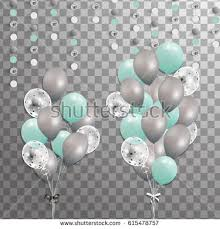 groups turquoise silver white transparent helium stock vector