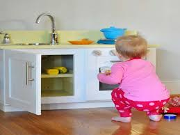homemade play kitchen ideas old cabinet to kids play kitchen