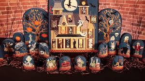 needlepoint halloween haunted house kit series youtube