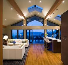 vaulted ceiling beams ideas living room farmhouse with wood trim