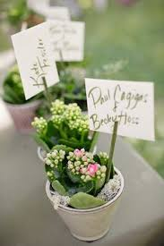 Flower Favors by Wedding Flowers Planted Flower Wedding Favors