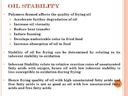 optimum use of frying oils