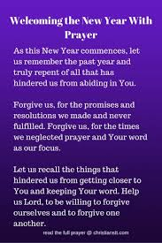 prayer to welcome the new year 2017