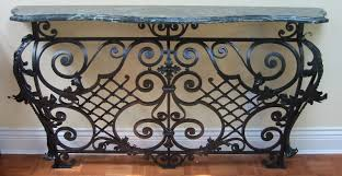 Wrought Iron Console Table Black Wrought Iron Console Table Home Decorations Adjustment