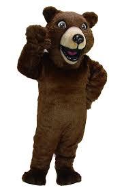 Mascot Costumes Halloween Grizzly Bear Custom Mascot Costume Team 41032