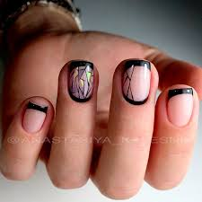 fantastic black french manicure to try naildesignsjournal