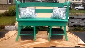 Shabby Chic Bench Diy Painted Pallet And Old Chairs Bench 101 Pallets