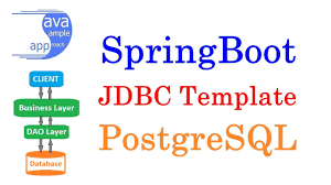 how to use spring jdbc template with spring boot for postgres