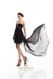black strapless beaded short dress with floor length sheer overlay