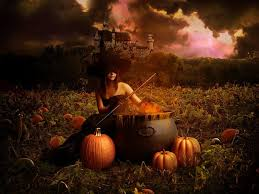 halloween flying witch background beautiful witches wallpaper wallpapersafari