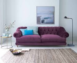Living Room With Purple Sofa Purple Sofa For A Bright And Lively Living Room Goodworksfurniture