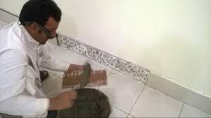 Floor Tile Skirting Fixing Of Skirting Tiles By Hashim Jah Temuri Youtube