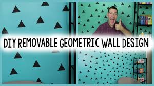diy removable geometric wall design a craft in your day
