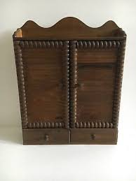 Wooden Spice Cabinet With Doors Vintage Farmhouse Wood Spice Cabinet Rack With Doors Spice Glass