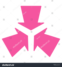 pink flat color shrink arrows vector icon style flat stock vector 349450358