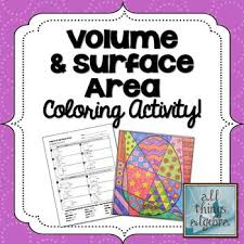 volume and surface area egg coloring activity math pinterest