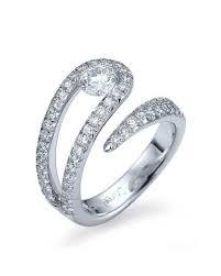 bezel set engagement rings 0 5ct white gold unique twisted semi bezel set engagement ring