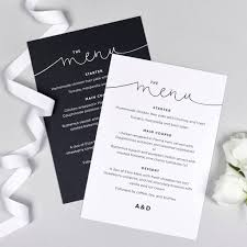 wedding menu cards kate wedding menu cards by project pretty notonthehighstreet