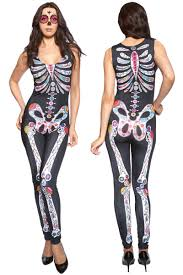 lycra halloween mask popular spandex skeleton costume buy cheap spandex skeleton