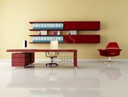 furniture remarkable minimalist desk with red chair and beige