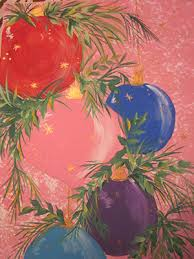 acrylic painting with krebs ornaments