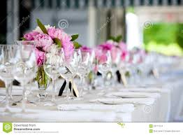 wedding flowers table wedding flower arrangement table setting series stock images