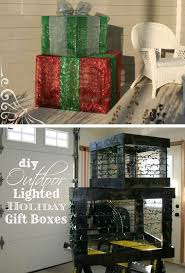 27 best outdoor decorations lighted gift boxes images on