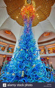 glass sculpture by artist dale chihuly in the royal towers grand