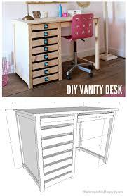 Diy Vanity Desk Diy Vanity Desk With Modern Hardware Pulls