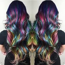 dye bottom hair tips still in style amazing rainbow hair color and style by christi edier hotonbeauty