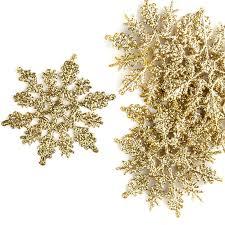 glittered gold snowflake ornaments ornaments