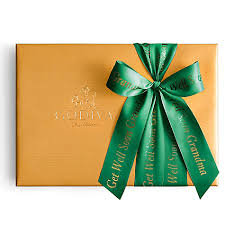 gift box with ribbon assorted chocolate gold gift box personalized forest green ribbon