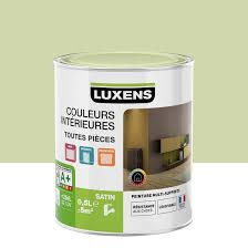 couleur vert celadon peinture vert vert 6 luxens couleurs intérieures satin 0 5 l