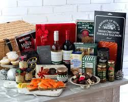 salmon gift basket smoked salmon gift basket box baskets uk and cheese etsustore