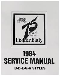 28 1964 fisher body service manual 27787 all years all
