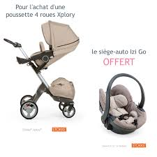 poussette siege auto bebe pack poussette 4 roues xplory siège auto izi go beige mélange
